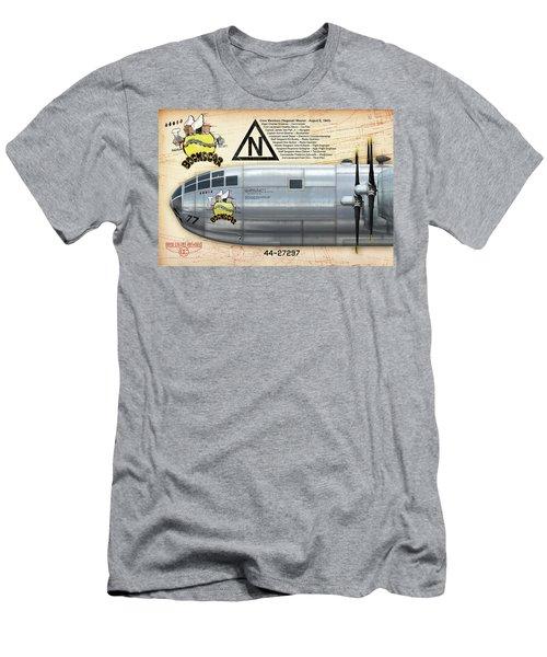 Bockscar Nosearts Men's T-Shirt (Slim Fit) by David Collins