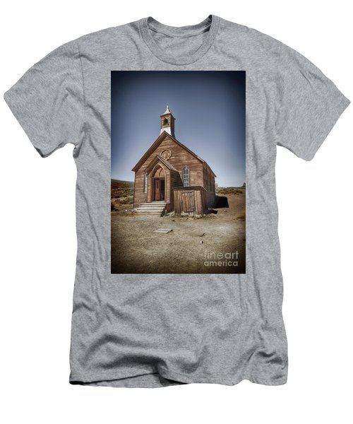 Men's T-Shirt (Slim Fit) featuring the photograph Bodie Church by Jim  Hatch