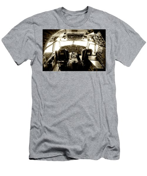 Men's T-Shirt (Slim Fit) featuring the photograph Boeing 747 Cockpit 21 by Micah May