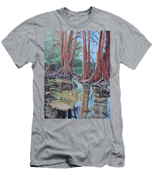 Boerne River Scene Men's T-Shirt (Athletic Fit)
