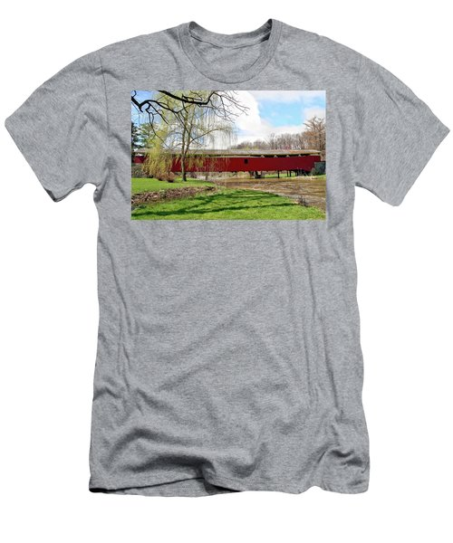 Bogert Covered Bridge Men's T-Shirt (Athletic Fit)