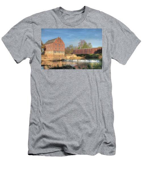 Bollinger Mill And Burfordville Covered Bridge Men's T-Shirt (Athletic Fit)