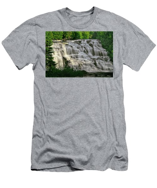 Men's T-Shirt (Slim Fit) featuring the photograph Bond Falls - Haight - Michigan 001 by George Bostian