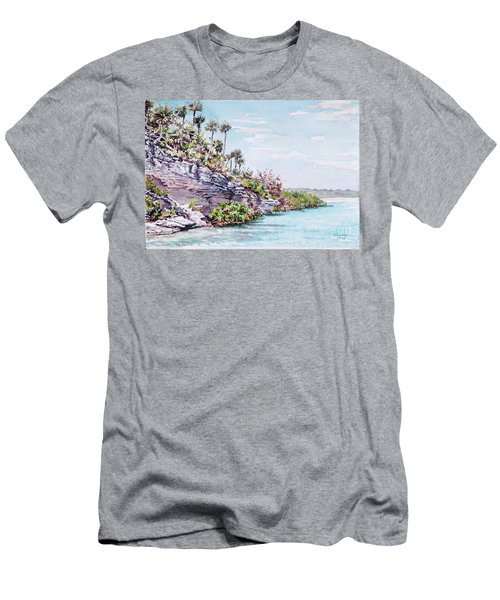 Bonefish Creek Watercolour Study Men's T-Shirt (Athletic Fit)