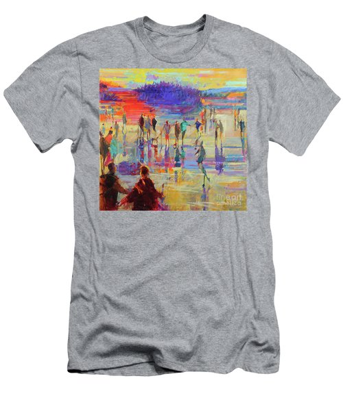 Bonspiel, Lake Of Menteith  Men's T-Shirt (Athletic Fit)