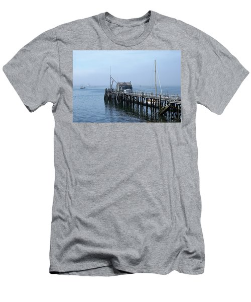 Boothbay Shipyard Dock Men's T-Shirt (Athletic Fit)
