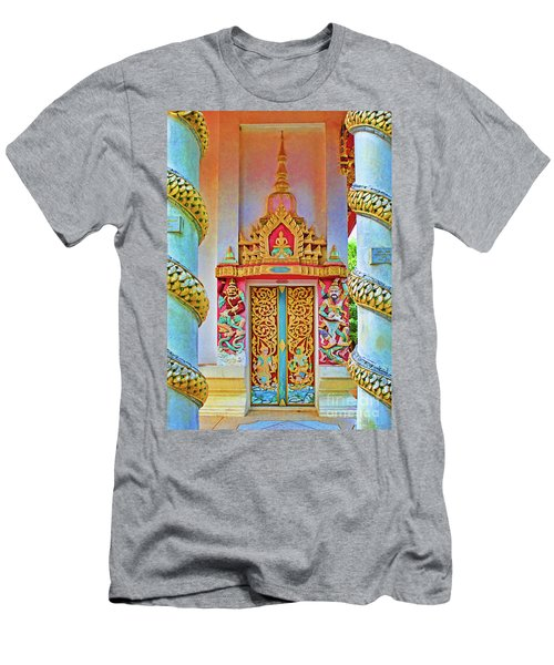 Bophut Temple In Thailand Men's T-Shirt (Athletic Fit)