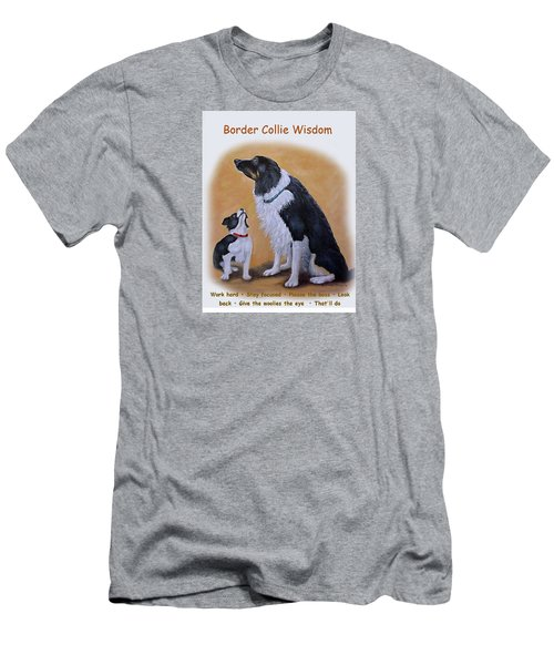 Border Collie Wisdom Men's T-Shirt (Athletic Fit)