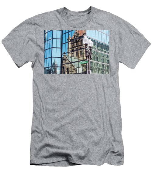 Boston At Different Angle Men's T-Shirt (Athletic Fit)