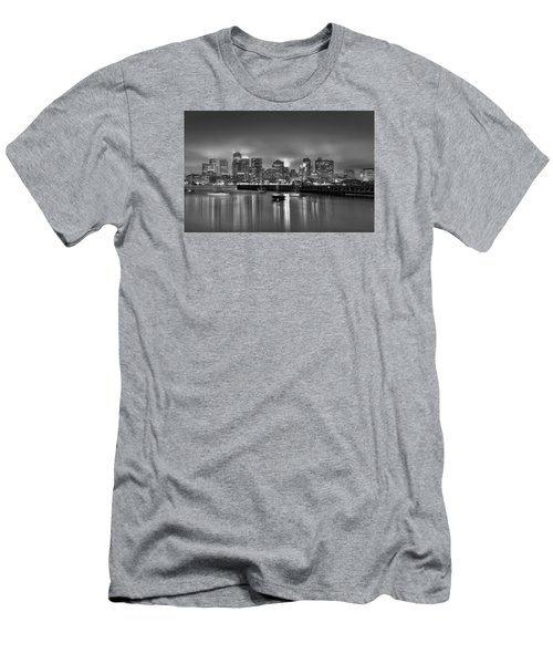Boston In Black And White Men's T-Shirt (Slim Fit) by Brendan Reals