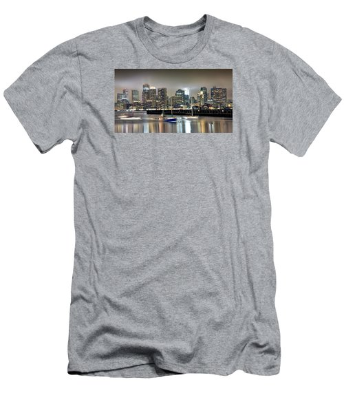 Boston Massachusetts Men's T-Shirt (Slim Fit) by Brendan Reals