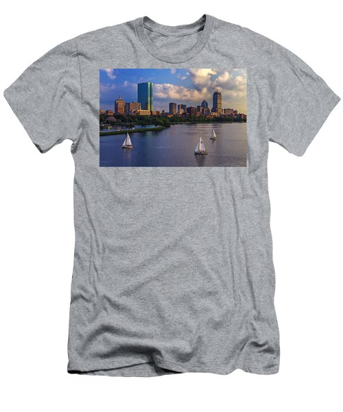 Boston Skyline Men's T-Shirt (Athletic Fit)