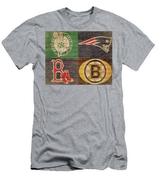 Boston Sports Teams Barn Door Men's T-Shirt (Athletic Fit)