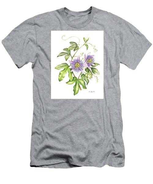 Botanical Illustration Passion Flower Men's T-Shirt (Athletic Fit)