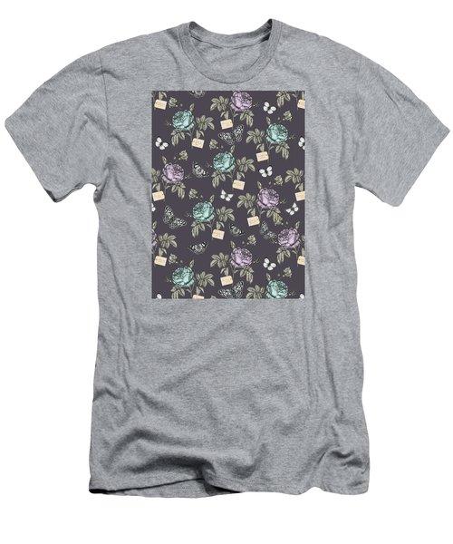 Botanical Roses Men's T-Shirt (Slim Fit) by Stephanie Davies