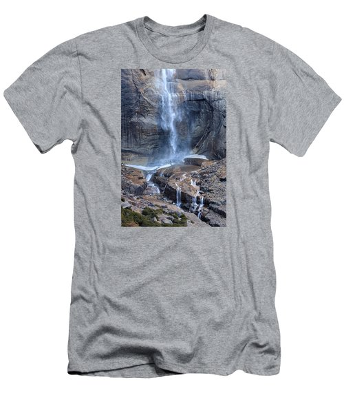 Bottom Part Of Upper Yosemite Waterfall Men's T-Shirt (Athletic Fit)