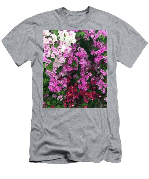 Bougainville Flowers In Hawaii Men's T-Shirt (Athletic Fit)