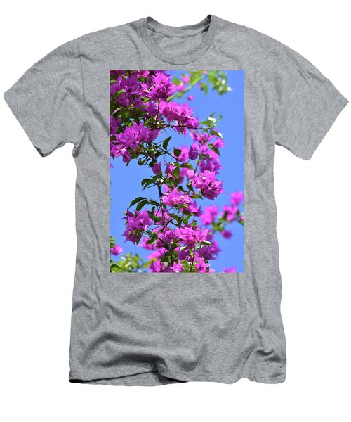 Bougainvillea And Sky Men's T-Shirt (Athletic Fit)