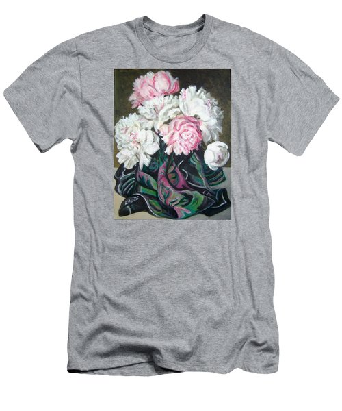 Bouquet Of Peonies Men's T-Shirt (Slim Fit) by Laura Aceto