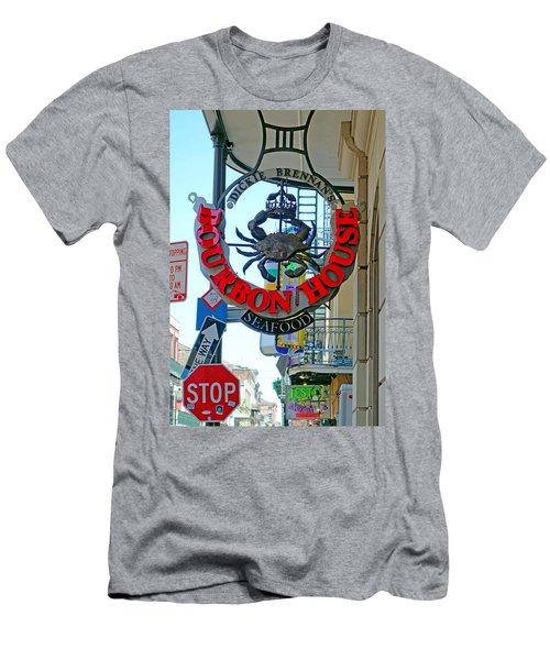 Bourbon House Signage Men's T-Shirt (Athletic Fit)