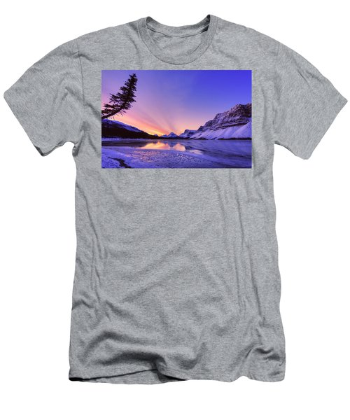 Bow Lake And Pine Men's T-Shirt (Athletic Fit)