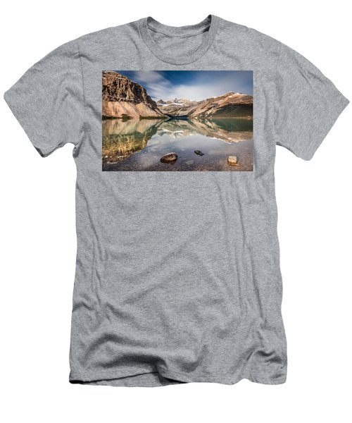 Bow Lake Glorious Reflection Men's T-Shirt (Slim Fit) by Pierre Leclerc Photography