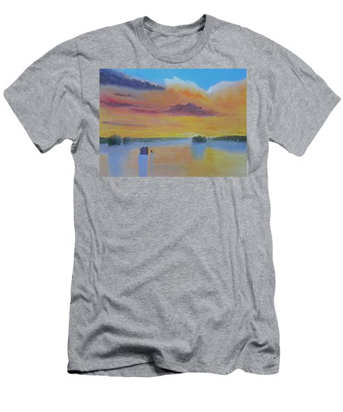 Bow Lake Ice Fishing Men's T-Shirt (Athletic Fit)