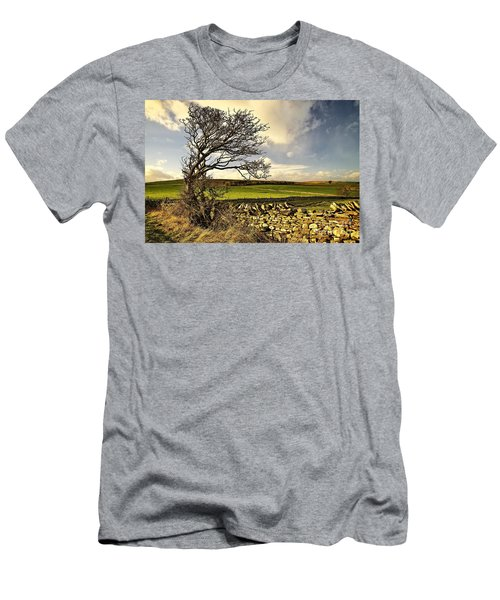 Bowing To The Wind Men's T-Shirt (Athletic Fit)