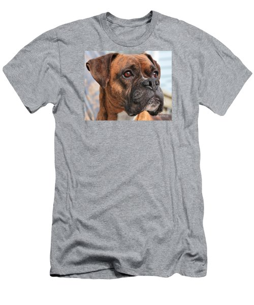 Men's T-Shirt (Slim Fit) featuring the photograph Boxer Portrait by Debbie Stahre
