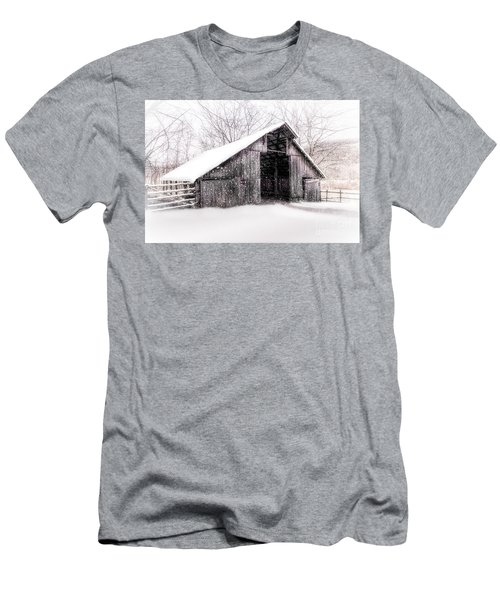 Boxley Snow Barn Men's T-Shirt (Athletic Fit)
