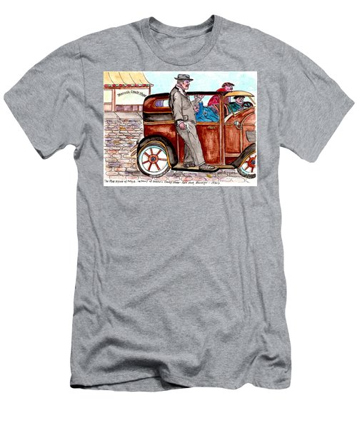 Bracco Candy Store - Window To Life As It Happened Men's T-Shirt (Slim Fit)