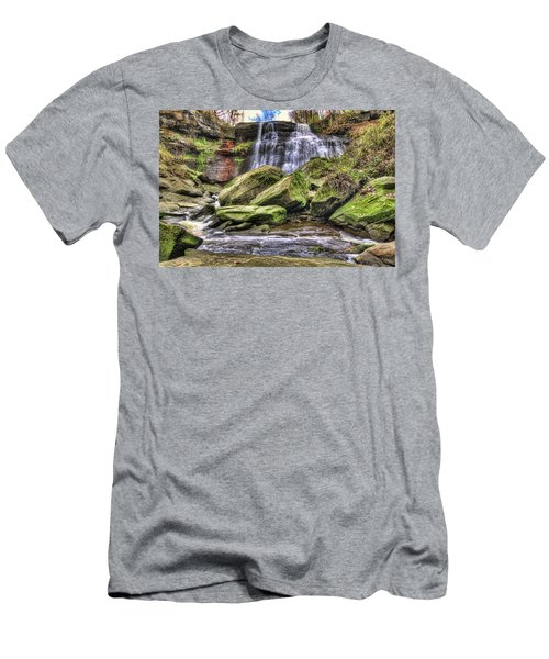 Men's T-Shirt (Slim Fit) featuring the photograph Brandywine Falls by Brent Durken