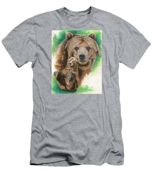 Men's T-Shirt (Slim Fit) featuring the painting Brawny by Barbara Keith