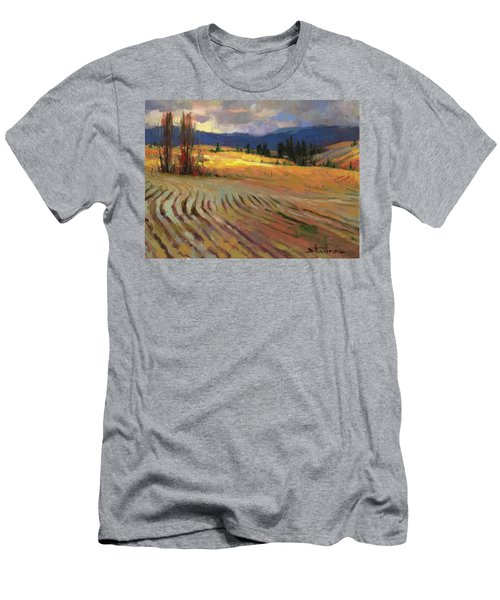 Men's T-Shirt (Athletic Fit) featuring the painting Break In The Weather by Steve Henderson