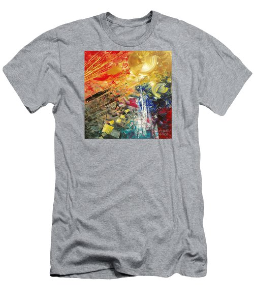 Men's T-Shirt (Slim Fit) featuring the painting Breakfast In Vegas by Tatiana Iliina