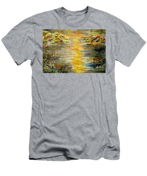Men's T-Shirt (Slim Fit) featuring the painting New Horizons by Alfred Motzer