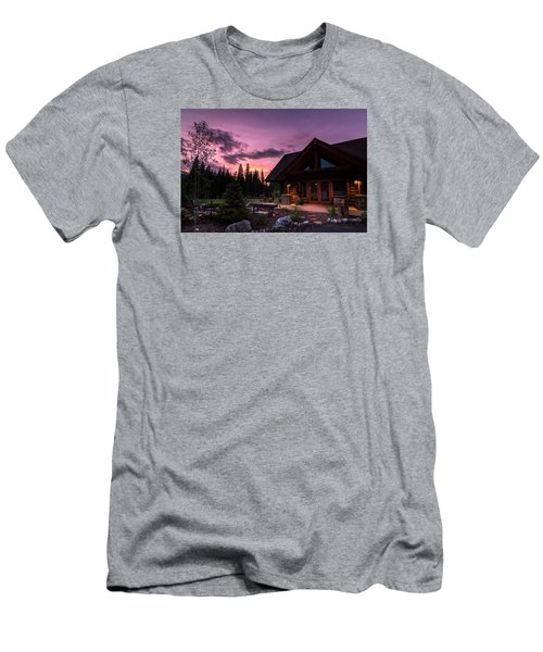 Breck Nordic Lodge Sunset Men's T-Shirt (Athletic Fit)