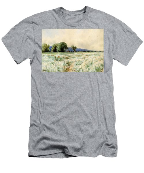 Bricher Alfred Thompson The Daisy Field Men's T-Shirt (Athletic Fit)