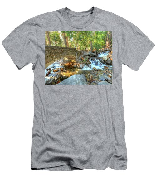 Bridalveil Creek At Yosemite By Michael Tidwell Men's T-Shirt (Athletic Fit)