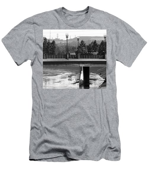 Bridge And Shopping Cart Men's T-Shirt (Athletic Fit)