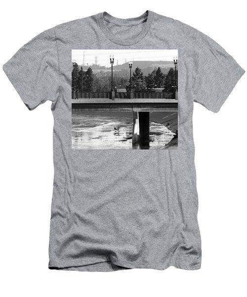 Bridge And Shopping Cart Men's T-Shirt (Athletic Fit)