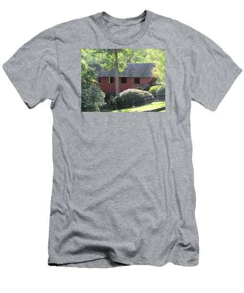 Bridge At Pont Rouge Farm Men's T-Shirt (Slim Fit) by Charlotte Gray