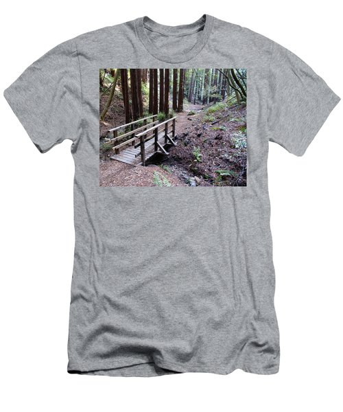 Bridge In The Redwoods Men's T-Shirt (Athletic Fit)