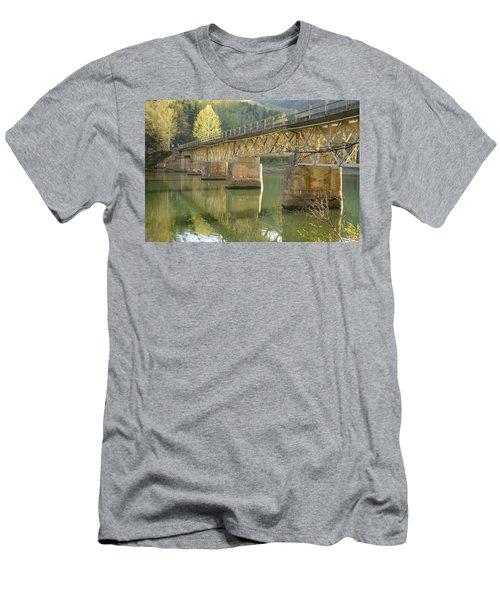 Bridge Over Calm Water Men's T-Shirt (Athletic Fit)