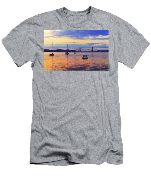 Bridge Sunset Men's T-Shirt (Athletic Fit)