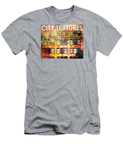 Men's T-Shirt (Slim Fit) featuring the mixed media Bright City Textures by John Fish