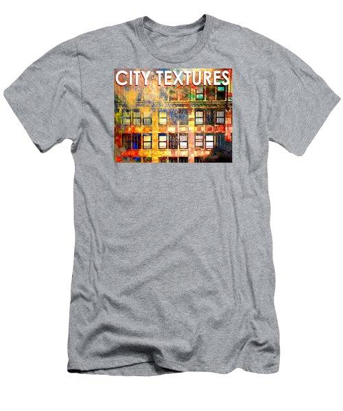 Bright City Textures Men's T-Shirt (Slim Fit) by John Fish