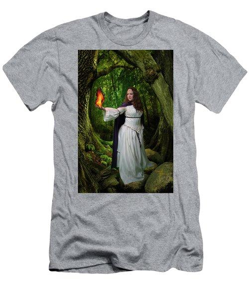 Brigid Men's T-Shirt (Slim Fit) by David Clanton