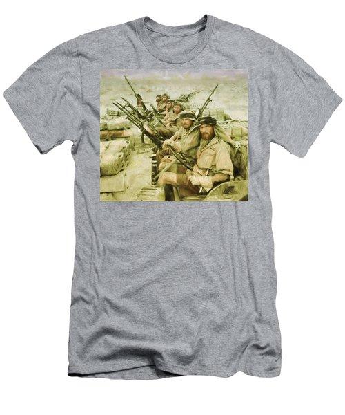 British Sas Men's T-Shirt (Slim Fit) by Michael Cleere