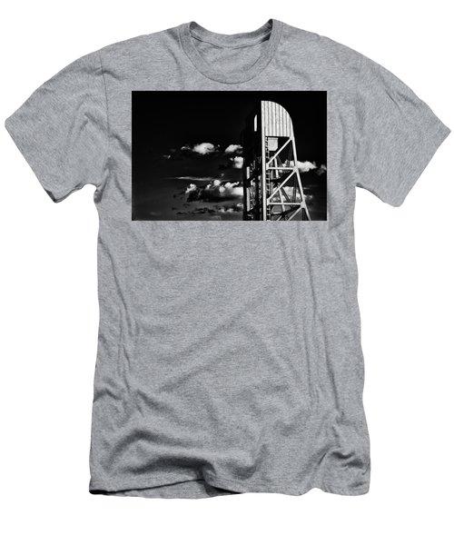 Broadway Bridge Abstract 5 Monochrome Men's T-Shirt (Athletic Fit)